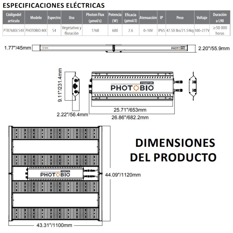 Photobio MX 680W